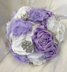 Lavender BOUQUET- purple bouquet, Wedding Brooch Bouquet, Jeweled Bouquet, Bouquets, sweet sixteen bouquet, quinceanera bouquet - pinned by pin4etsy.com