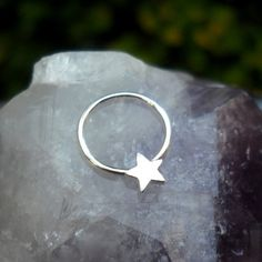Septum Ring Star Septum Ring Sterling by Holylandstreasures