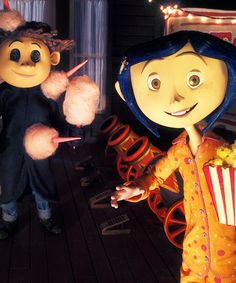Coraline, best movie ever. Scary for a children's movie though.