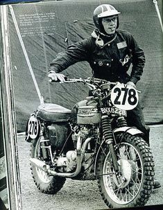 I simply can not get the love for this motorcycle out of my head! It's a Triumph ' Scrambler '. The one above is a TR6 ridden by Steve ...
