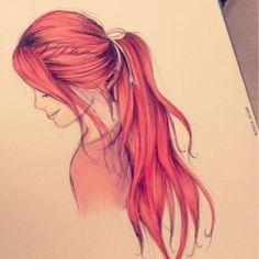 Redhead Drawing