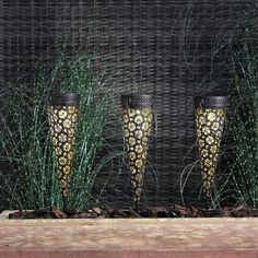 Flickering Lights, Solar Lights, Unique Lighting, Outdoor Lighting, Moroccan Pattern, Visual Display, Filigree Design, Hanging Lanterns, White Lead