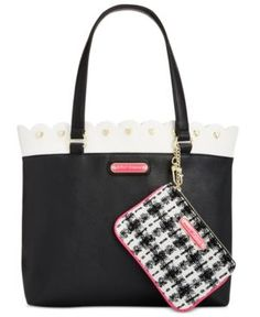 Betsey Johnson Scallop-Trim Tote with Pouch -