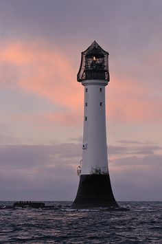 Lighthouse-Gloaming at the Bell Rock, Angus, Scotland Bell Rock Lighthouse, Lighthouse Pictures, Beacon Of Light, Outlander, Beautiful Places, Beautiful Sky, Scenery, Castle, Around The Worlds
