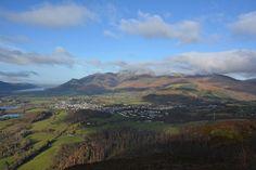 Keswick and the northern fells seen from Walla Crag summit, by David Hall.