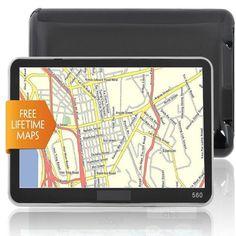 New 5 8GB HD Screen Car GPS Navigation Navigator SAT NAV Free US Maps UpdatesAW