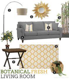 Botanical Fresh Living Room via @Sheena Tatum (Sophistishe.com) #HavertysInspired