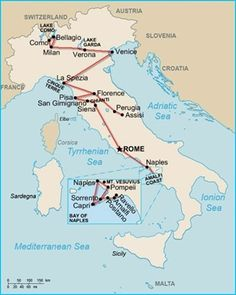 Perfect 2 week itineraries of Italy! I think that these could really work for our trip! :D  #ItalyItinerary