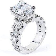 Michael M Engagement Ring F187 (via Michael M Engagement Ring F187 - Samuel Gordon Jewelers | Oklahoma Jeweler)