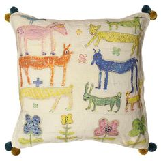 Sugarboo Stacked Animals Pillow