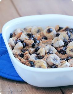 HEALTHY chocolate chip banana bread pudding