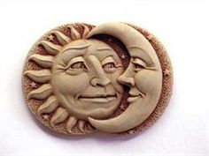 Celestial Attraction Mini Hand Cast Stone (Terra Cotta) by Carruth Studio. $20.90. Have you ever seen a sun and moon with as much personality? This little plaque looks great hanging anywhere. Our sculpture works well inside a child's room, or out on the deck. It makes a fun gift either way.