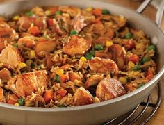 One-Skillet Pork with Wild Rice and Herbs Serves 4 Wild Rice, Recipe Details, Kung Pao Chicken, Pork, Healthy Eating, Herbs, Cooking, Ethnic Recipes, Skillet