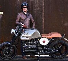 #bmw #k100 #k100rs #special #cafèracer #andre #redstar #leather #vintage #vintagestyle #vintageclothing #vintagebike #motorbyke #aviator