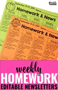 Homework Newsletter