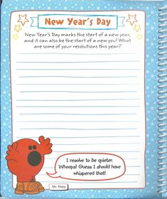 Men Little Miss: All Year Round - New Year's Day (Page This is perfect for planning New Year's resolutions, especially for Mr Men Little Miss, All Year Round, New You, Resolutions, How To Plan, My Love, Day