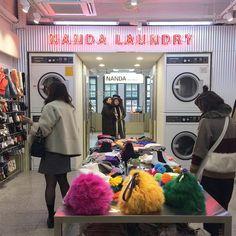 Style Nanda Pink Hotel 7/9 | 3o andar: a lavanderia do hotel, roupas e acessórios! . #stylenanda #stylenandapinkhotel #brocosplace