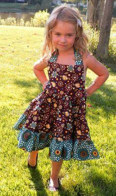 super twirly halter dress