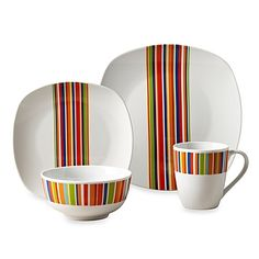 59.99-Tabletops Unlimited® Westwood Square Porcelain 16-Piece Set