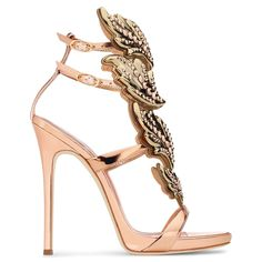 Set the Night on Fire in Giuseppe Zanotti's Crystal-Embellished 'Cruel' Sandals Ankle Strap High Heels, Ankle Straps, Homecoming Shoes, Giuseppe Zanotti Shoes, Zanotti Heels, Italian Shoes, Girls Shoes, Me Too Shoes, Stiletto Heels