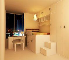 Tumidei style lofted bedroom