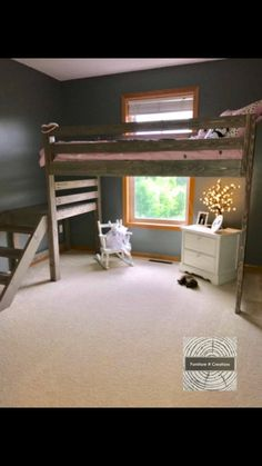 Deciding to Buy a Loft Space Bed (Bunk Beds). – Bunk Beds for Kids Bunk Beds With Stairs, Kids Bunk Beds, Loft Beds For Teens, Teen Loft Beds, Loft Spaces, Small Spaces, Rustic Loft, Rustic Chic, Rustic Stairs