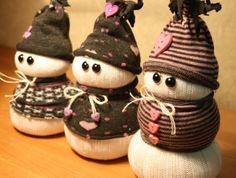 "The cutest ""sock snowmen"" ever!"