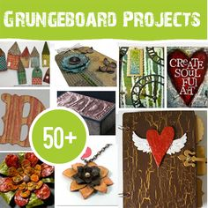 Grungeboard. Eco Friendly and Easy to use.  Here are 50 ways to love your Grungeboard ;)