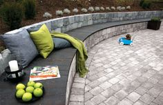 Bilderesultat for støttemur granitt Safari, Outdoor Furniture, Outdoor Decor, Garden Inspiration, Garden Art, Outdoor Living, Concrete, Patio, House