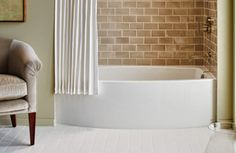 You'll Want to Turn Into a Prune in These Small Soaker Tubs: Kohler 'Expanse' Curved Apron Tub