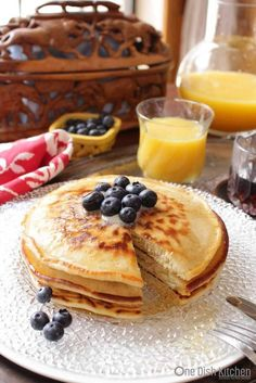 How To MakePancakes for one! This easy recipe makes a small batch of pancakes and is perfect for those Cooking for One. | One Dish Kitchen