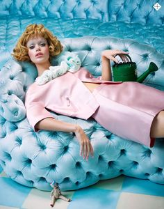 """In the Doll's House"" Frida Aasen by Sandrine Dulermo & Michael Labica for Stylist London February 17th, 2015"