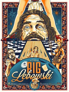 Cool Art: The Big Lebowski by Ghoulish Gary Pullin
