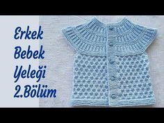 Yuvarlak robalı gofret örgü modeli yazısında roba ve yelek yapımı yer alıyor. Sizde bu yazıdan güzel bir bebek yeleğinin yapımını öğrenebilirsiniz. Baby Knitting Patterns, Baby Boys, Crochet Baby, Knit Crochet, Baby Vest, Moda Emo, Knit Vest, Travel Size Products, Free Pattern