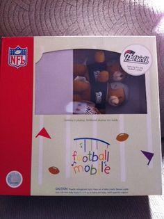 New England Patriots Football Musical Mobile Nursery NEW Bears Boy or Girl