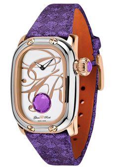 Glam Rock Women's Monogram Amethyst ctw) Purple Hand Made Woven Copper Rock Watch, Purple Hands, Glam Rock, Smart Watch, Sunday Paper, Amethyst, Monogram, Watches, My Style