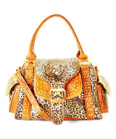 This Leopard Studded Shoulder Bag by Biacci is perfect! #zulilyfinds