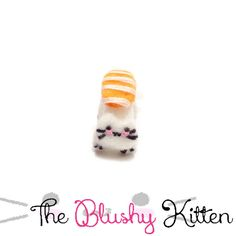 Nigiri Kitten Ear cuff, Felt Nigiri Kitten Ear Cuff, Customised, Felt Sushi EarCuff, Felt Nigiri Sushi Kitten Ear Cuff, Bento Earring Holder by TheBlushyKitten on Etsy