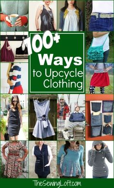 Check out over 100 ways to upcycle clothing. Amazing ideas that are easy to…