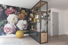 Stalen Roomdivider - Zwaartafelen Home Improvement, Bookcase, Shelves, Living Room, Chair, Architecture, Creative, Modern, House
