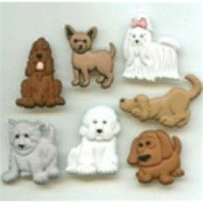 804b5153f8e JJ-4674 Puppy Parade Buttons