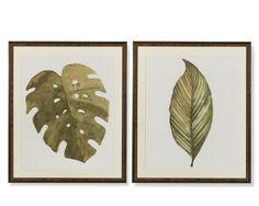 Oversized Leaf Print #williamssonoma