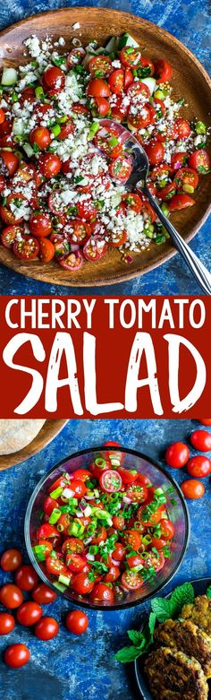 Get ready to serve up this Cherry Tomato Salad all Summer long! This speedy side dish is healthy, fresh, and full of flavor!