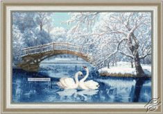 White Swans - Cross Stitch Kits by ZOLOTOE RUNO - LP-036