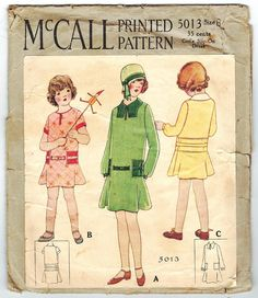 McCall 5013 Vintage 1920s Pre Depression Era by PatternPlaying, $75.00