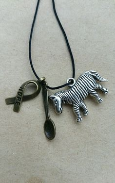 Ehler Danlos Syndrome awareness keyring eds jhs hms zebra hope charm