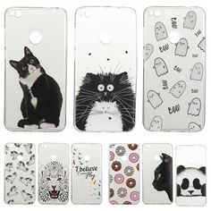 Lovely Animal Cat Unicorn Silicon Case for Huawei Ascend P8 Lite 2017 / Honor 8 Lite Clear Cover Soft TPU Transparent Phone Case #Affiliate