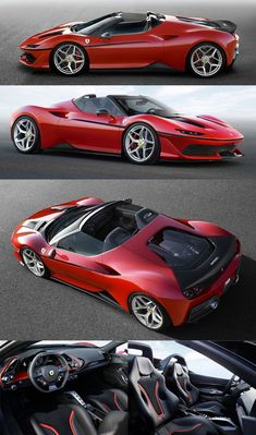 The Ferrari is a limited edition targa top based on the 488 Spider It uses Luxury Brand Car Ferrari Car, Lamborghini, Maserati, Aston Martin, Porsche, Automobile, F12 Berlinetta, Ford, Unique Cars