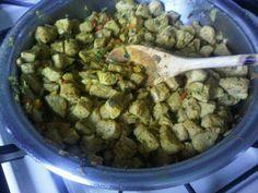 Carne de soja al curry y ginger