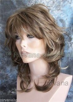 Shoulder Length Flicked Layers Nirvana Angie Wig